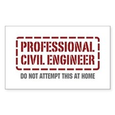 Professional Civil Engineer Rectangle Decal
