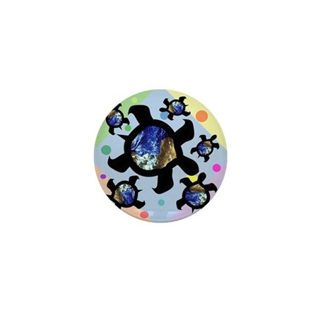 Earthly Turtles Mini Button