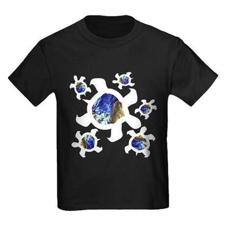 Earthly Turtles Kids Dark T-Shirt