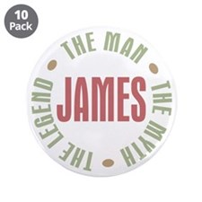 "James Man Myth Legend 3.5"" Button (10 pack)"