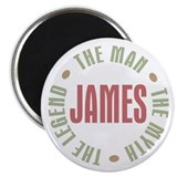 "James Man Myth Legend 2.25"" Magnet (100 pack)"