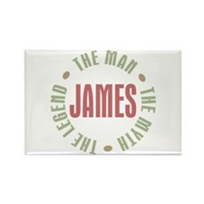 James Man Myth Legend Rectangle Magnet (100 pack)