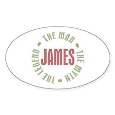 James Man Myth Legend Oval Decal