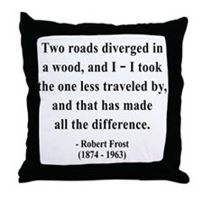 Robert Frost 1 Throw Pillow