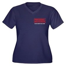 Professional Butcher Women's Plus Size V-Neck Dark