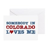 Somebody in Colorado Loves Me Greeting Cards (Pk o