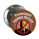 Psychologists Against McCain campaign button