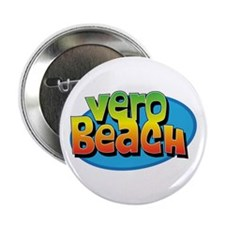 "Vero Beach Florida Cartoon Souvenir 2.25"" Button ("