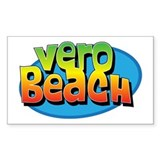Vero Beach Florida Cartoon Souvenir Decal
