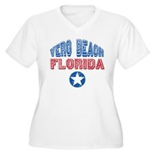 Vero Beach Florida Patriotic Distressed T-Shirt