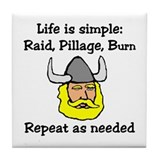 Viking Life Tile Coaster