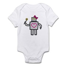 """Girly Robot"" Infant Bodysuit"
