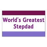 World's Greatest Stepdad Rectangle Sticker 10 pk)