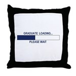 GRADUATE LOADING... Throw Pillow