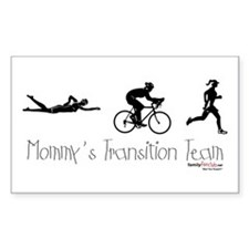 Triathlon Mommy's Transition Team Decal