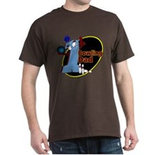 Blue number 1 bowling dad T-Shirt
