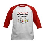 FAMILY STICK FIGURES Kids Baseball Jersey