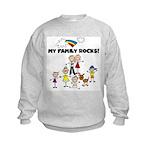 FAMILY STICK FIGURES Kids Sweatshirt