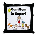 FAMILY STICK FIGURES Throw Pillow