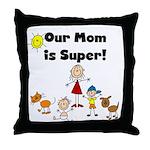 FAMILY STICK FIGURES Throw Pillow
