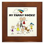 FAMILY STICK FIGURES Framed Tile