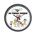 FAMILY STICK FIGURES Wall Clock