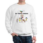 FAMILY STICK FIGURES Sweatshirt