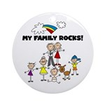 FAMILY STICK FIGURES Ornament (Round)
