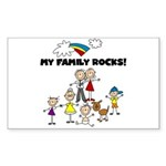 FAMILY STICK FIGURES Rectangle Sticker