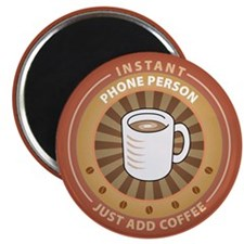 "Instant Phone Person 2.25"" Magnet (10 pack)"
