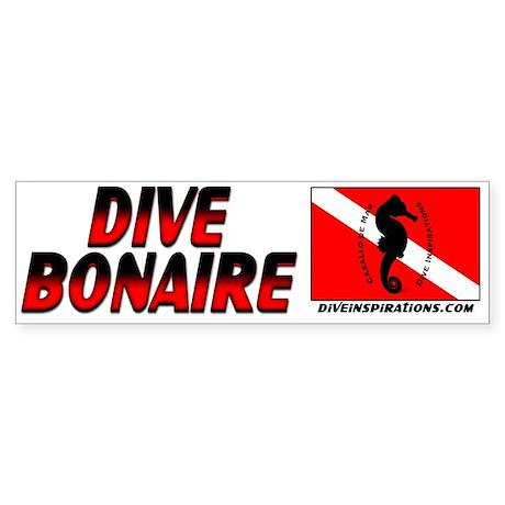 Dive Bonaire (red) Bumpersticker