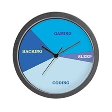 """Geek Schedule"" Wall Clock"