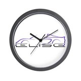 Elise Outline Blue Wall Clock