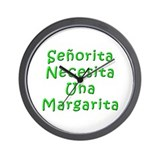 Senorita Margarita Wall Clock