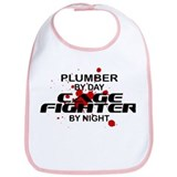 Plumber Cage Fighter by Night Bib