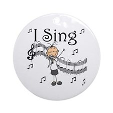 I Sing (FEMALE) Ornament (Round)