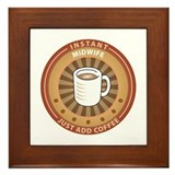 Midwife coffee Framed Tiles