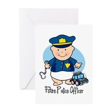 Future Police Officer Greeting Card