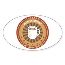 Instant Mad Scientist Oval Sticker (50 pk)