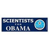 Scientists for Obama Bumper Bumper Sticker