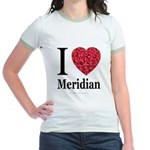 I Love Meridian Jr. Ringer T-Shirt