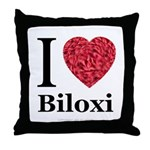 I Love Biloxi Throw Pillow