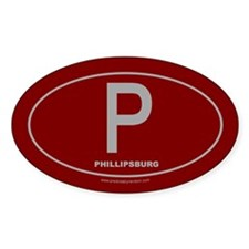 Phillipsburg Oval Sticker (10 pk)