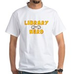 Library Nerd White T-Shirt