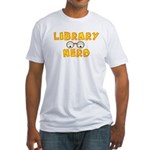 Library Nerd Fitted T-Shirt