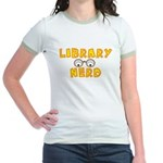 Library Nerd Jr. Ringer T-Shirt