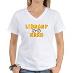 Library Nerd Women's V-Neck T-Shirt