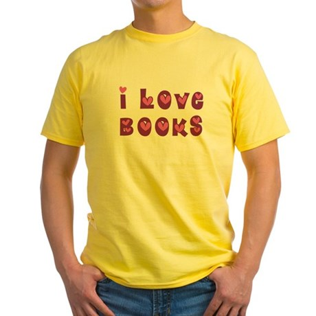 I Love Books Yellow T-Shirt