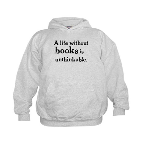 Life Without Books Kids Hoodie