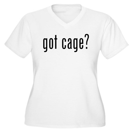 got cage? Women's Plus Size V-Neck T-Shirt